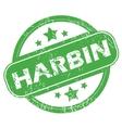 Harbin green stamp vector image vector image