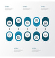 hardware icons line style set with start button vector image vector image