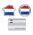 Home icon on the Netherlands flag vector image vector image