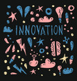 innovation concept in doodle style design vector image vector image
