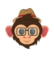 Isolated monkey cartoon design vector image