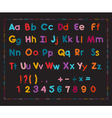 Latin alphabet with scribble effect vector image vector image