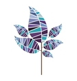 leaf abstract icon image vector image vector image