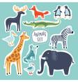 llustrations cartoon funny cute animals vector image vector image