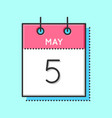 may calendar icon vector image