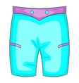 Men beach shorts icon cartoon style vector image vector image