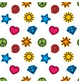 minimalistic pattern trendy seamless background vector image