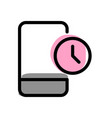 modern cell phone stopwatch timer notification vector image