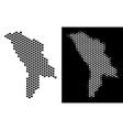 moldova map hex-tile scheme vector image vector image