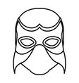 monochrome silhouette with wrestler mask vector image vector image