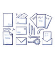 office supplies papers and documents set vector image vector image