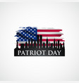 patriot day design with american flag vector image vector image