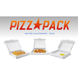 pizza packaging vector image vector image