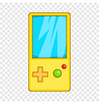 pocket tetris icon cartoon style vector image vector image