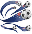 portugal flag set whit soccer ball convertito vector image vector image