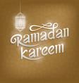 ramadan kareem typography design vector image