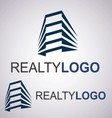 realty logo 7 2 vector image vector image