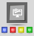 repair computer icon sign on original five colored vector image vector image