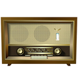 retro radio isolated on a white background vector image vector image