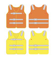 safety vest industrial with reflective strips vector image vector image