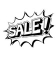 sale word comic book coloring vector image vector image