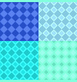 seamless abstract square pattern background set vector image vector image