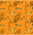 seamless pattern native american symbols vector image vector image