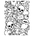 Seamless pattern with retro tattoo symbols vector image