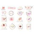 set hand drawn watercolor labels and badges vector image vector image
