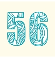 Set of doodle numbers including two numbers with vector image vector image