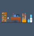 set of objects for creating an office interior vector image vector image