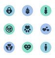 set of simple love icons vector image