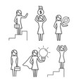 set women group with office strategy vector image