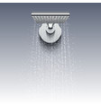 shower head with water drops realistic vector image vector image