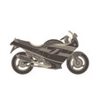 sport motorbike icon side view isolated extreme vector image vector image
