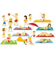 summer holiday - of people vector image