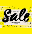 summer sale banner template yellow background vector image vector image