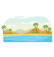 summer time in beach landscape vector image