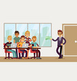 team found investor businessman invests young vector image vector image