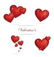 valentine heart sign set red color vector image