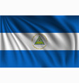 waving nicaragua vector image vector image