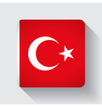 Web button with flag of Turkey vector image vector image
