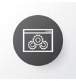 website optimization icon symbol premium quality vector image