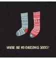 xmas socks1 vector image vector image