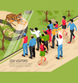 zoo visitors isometric vector image vector image