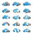 Cloud computing icons and logos set