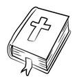 cartoon image of bible icon religion symbol vector image