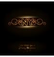 NY logo vector image