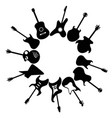 guitars around with copy space background vector image