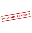 18 Plus Adults Only Watermark Stamp vector image vector image